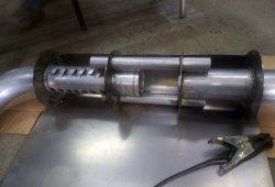 изготовление глушителя для генератора